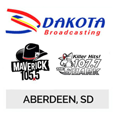 Dakota Broadcasting, Dakot Country 105.5, 107.7 KBAD FM Aberdeen, SD