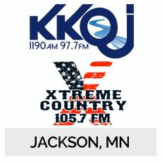 KKOJ 1190AM 97.7FM, Xtreme Country 105.7FM Jackson, MN